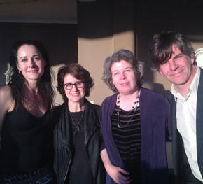 DeLauné with Delia Ephron, Meg Wolitzer, and Jason Porter
