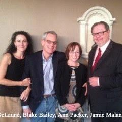 DeLauné Michel with Blake Bailey, Ann Packer, Jamie Malanowski